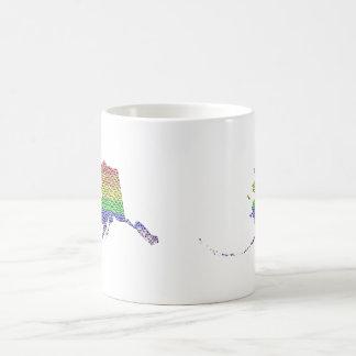 Mosaico de la bandera del orgullo del arco iris de taza