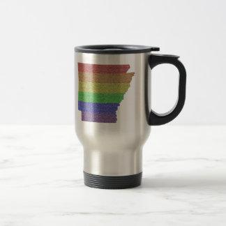 Mosaico de la bandera del orgullo del arco iris de taza de viaje