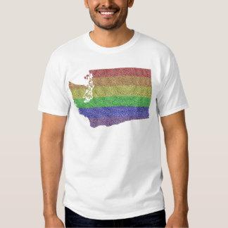 Mosaico de la bandera del orgullo del arco iris playeras