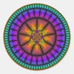 Mosaico de la esfera celestial pegatina redonda