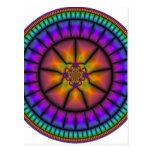 Mosaico de la esfera celestial postal