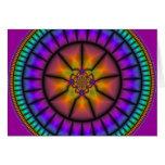 Mosaico de la esfera celestial tarjeta de felicitación