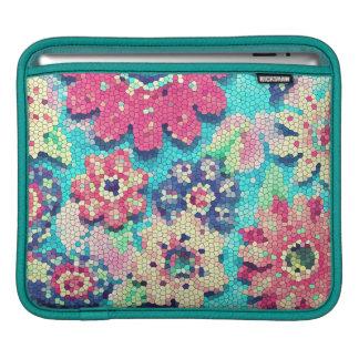 mosaico de la flor de la manga del carrito de la m manga de iPad
