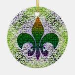 Mosaico de la flor de lis ornamento para reyes magos