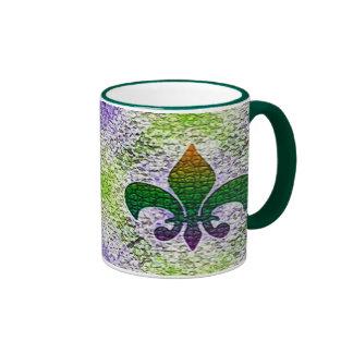 Mosaico de la flor de lis tazas