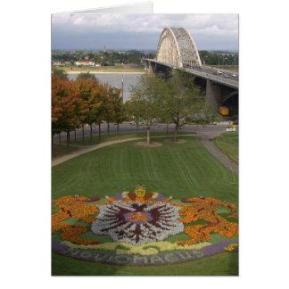 Mosaico de la flor, Nimega Tarjeta De Felicitación