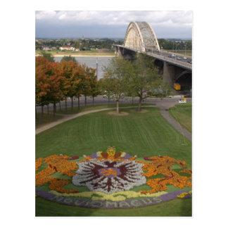 Mosaico de la flor, Nimega Tarjetas Postales