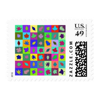 Mosaico de la hoja sello
