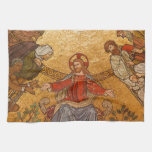 Mosaico de la iglesia - Jesucristo Toallas De Mano