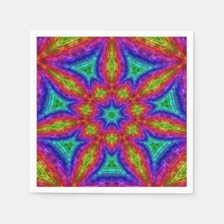 Mosaico de la mandala servilleta de papel