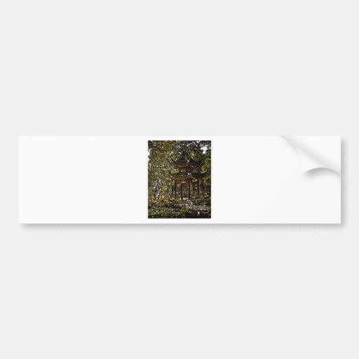 Mosaico de la pagoda 2 etiqueta de parachoque
