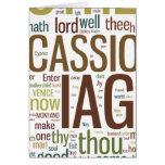Mosaico de la palabra de Othello Felicitación