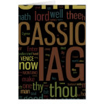 Mosaico de la palabra de Othello Felicitaciones