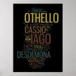 Mosaico de la palabra de Othello Posters