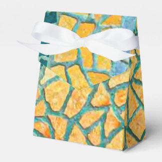 Mosaico de la piedra de la pintura de la acuarela caja para regalos