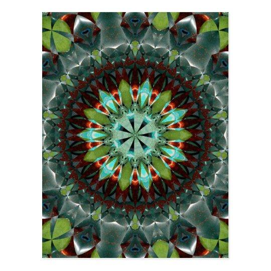 Mosaico de la piedra preciosa tarjeta postal
