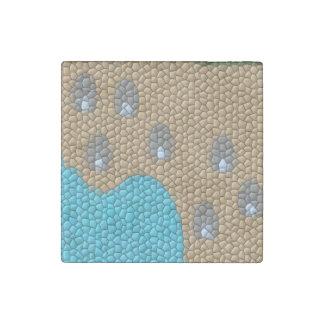Mosaico de la pintura imán de piedra