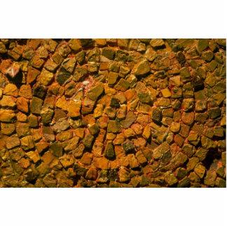 Mosaico de la teja fotoescultura vertical