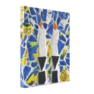 Mosaico de la vela impresiones de lienzo
