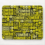 Mosaico de los zombis alfombrillas de raton