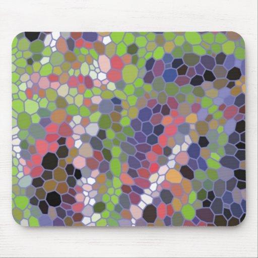 Mosaico de moda colorido alfombrillas de ratones