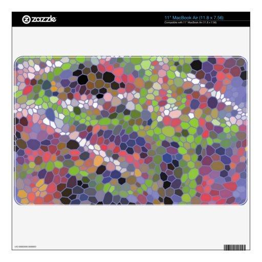 Mosaico de moda colorido calcomanías para MacBook