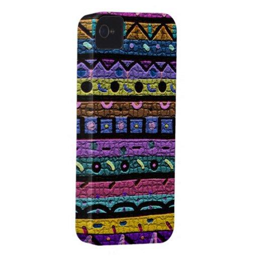 Mosaico de neón Case-Mate iPhone 4 funda