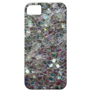 Mosaico de plata colorido brillante iPhone 5 fundas