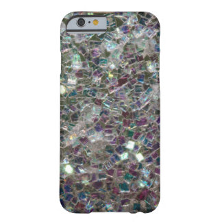 Mosaico de plata colorido brillante funda de iPhone 6 barely there