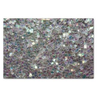 Mosaico de plata colorido brillante papel de seda pequeño