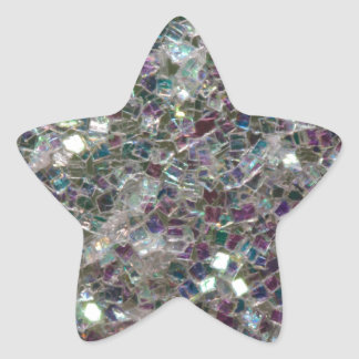 Mosaico de plata colorido brillante pegatina en forma de estrella
