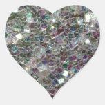 Mosaico de plata colorido brillante pegatinas