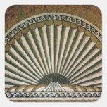 Mosaico de Shell, ANUNCIO constructivo de la Pegatinas Cuadradases