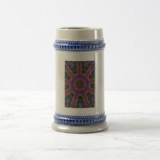 Mosaico decorativo colorido tazas de café
