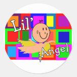 MOSAICO del ángel de Lil con el bebé del Etiqueta Redonda