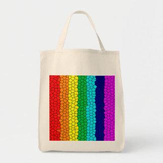 Mosaico del arco iris bolsa tela para la compra