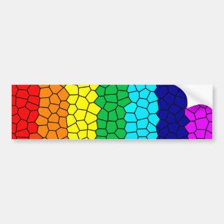 Mosaico del arco iris etiqueta de parachoque