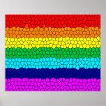 Mosaico del arco iris impresiones