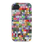 Mosaico del arco iris iPhone 4/4S fundas