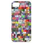 Mosaico del arco iris iPhone 5 cárcasa