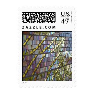 Mosaico del arco iris sello postal