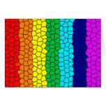 Mosaico del arco iris tarjeton