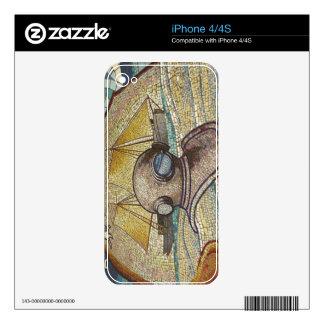 Mosaico del casco viejo de los buceadores iPhone 4S calcomanías