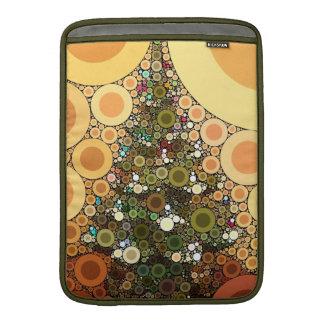 Mosaico del círculo del árbol de navidad buenas fi fundas macbook air