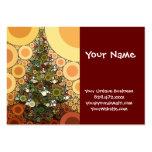 Mosaico del círculo del árbol de navidad buenas tarjetas de visita grandes