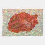 Mosaico del corazón toallas de mano