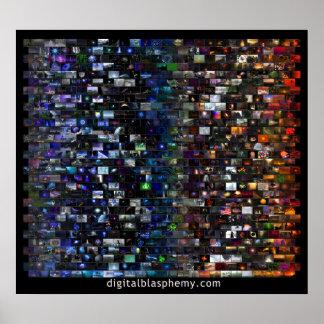 Mosaico del espectro de la blasfemia de Digitaces  Posters