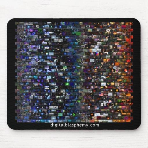 Mosaico del espectro de la blasfemia de Digitaces Tapete De Ratones