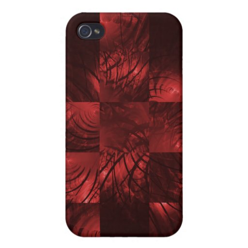 Mosaico del fractal de la locura iPhone 4/4S carcasa