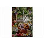 mosaico del jardín del conejo postal